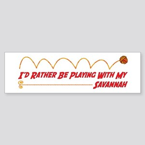 Playing Savannah Bumper Sticker