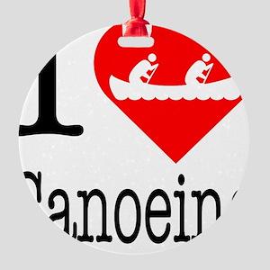 I-Heart-canoeing Round Ornament