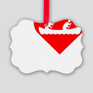 I-Heart-canoeing-Darks Picture Ornament