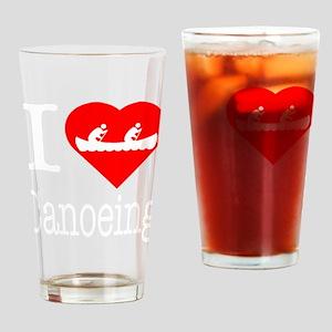 I-Heart-canoeing-Darks Drinking Glass
