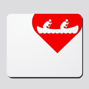 I-Heart-canoeing-Darks Mousepad