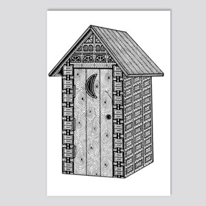 Outhouse-shirt Postcards (Package of 8)