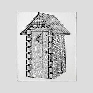Outhouse-shirt Throw Blanket