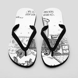 2118_bird_cartoon Flip Flops