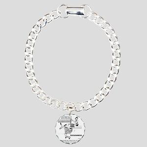1756_bird_cartoon Charm Bracelet, One Charm