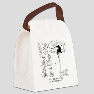 5838_vulture_cartoon Canvas Lunch Bag