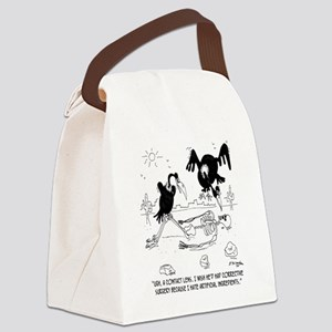 7121_nutrition_cartoon Canvas Lunch Bag