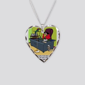 8414_parrot_cartoon Necklace Heart Charm