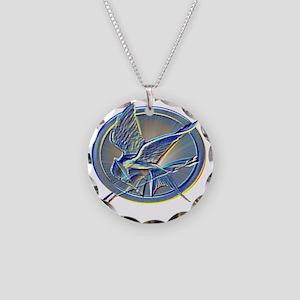silverhuedmockingjay Necklace Circle Charm