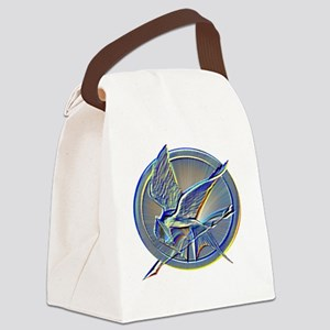 silverhuedmockingjay Canvas Lunch Bag