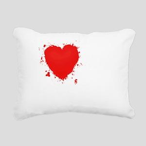 Splochy Love Veteran WHT Rectangular Canvas Pillow