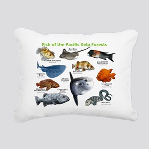 Fish of the Kelp Forests Rectangular Canvas Pillow