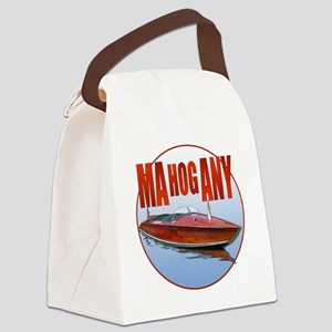 Mahogany-C10trans Canvas Lunch Bag