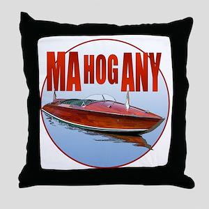 Mahogany-C10trans Throw Pillow
