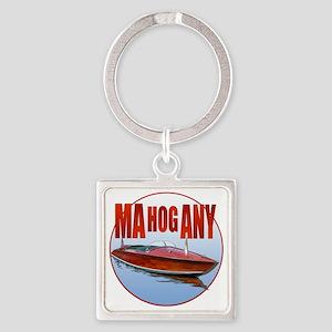 Mahogany-C10trans Square Keychain