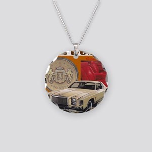1979 Chrysler Cordoba Design Necklace Circle Charm