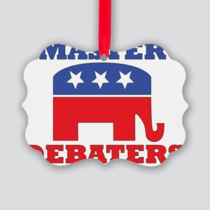 Master-Debaters-Republicans Picture Ornament