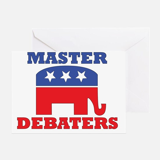 Master-Debaters-Republicans.gif Greeting Card