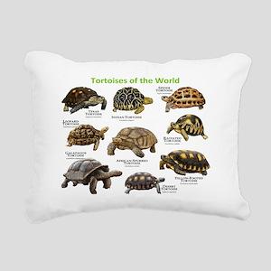 Tortoises of the World Rectangular Canvas Pillow