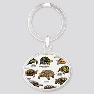 Tortoises of the World Oval Keychain