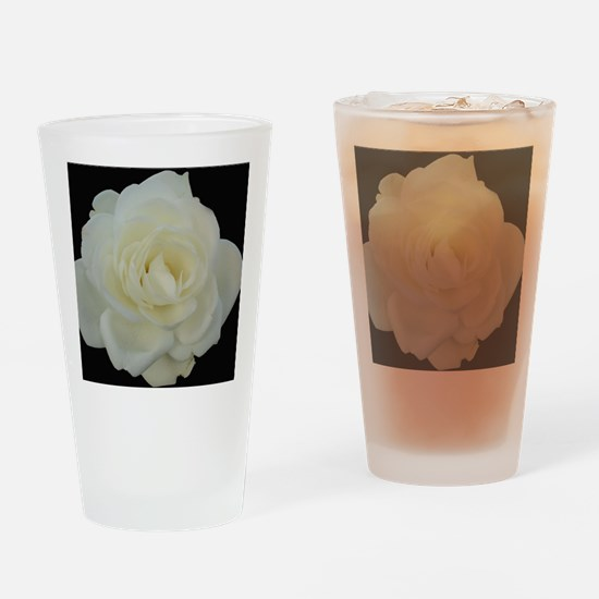 Midnight Rose Drinking Glass
