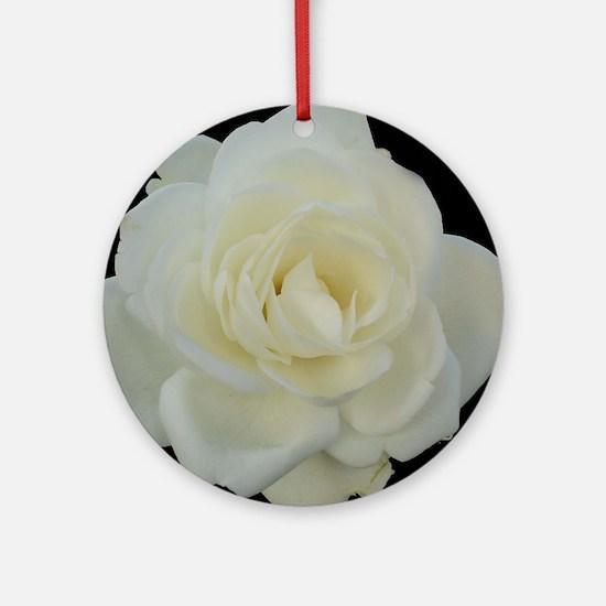 Midnight Rose Round Ornament