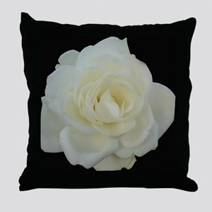 Midnight Rose Throw Pillow