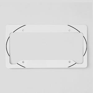 white sticker License Plate Holder