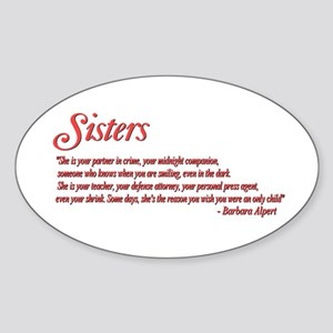Sisterhood #1 Oval Sticker