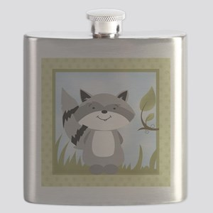 Raccoon Tile Green Flask