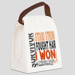 D Survivor 4 Uterine Cancer Canvas Lunch Bag