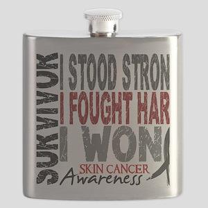 D Survivor 4 Skin Cancer Flask