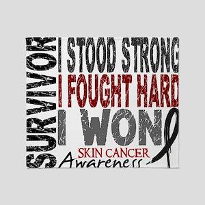 D Survivor 4 Skin Cancer Throw Blanket