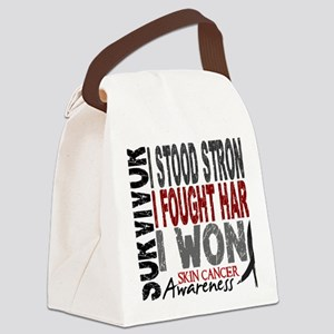 D Survivor 4 Skin Cancer Canvas Lunch Bag