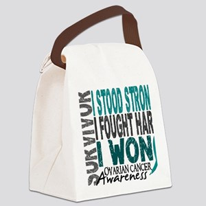 D Survivor 4 Ovarian Cancer Canvas Lunch Bag