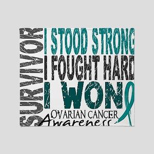 D Survivor 4 Ovarian Cancer Throw Blanket