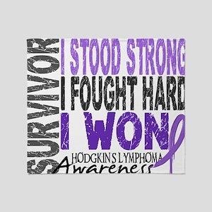 D Survivor 4 Lymphoma Hod Throw Blanket