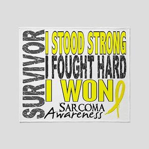 D Survivor 4 Sarcoma Throw Blanket