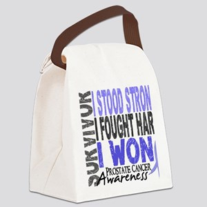 D Survivor 4 Prostate Cancer Canvas Lunch Bag