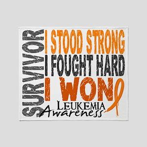 D Survivor 4 Leukemia Throw Blanket
