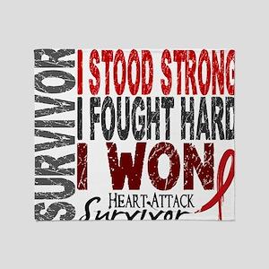 D Survivor 4 Heart Attack Throw Blanket