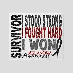 D Survivor 4 Melanoma Throw Blanket