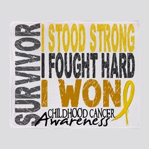 D Survivor 4 Childhood Cancer Throw Blanket