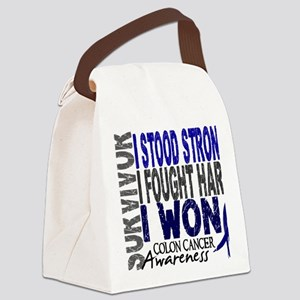 D Survivor 4 Colon Cancer Canvas Lunch Bag