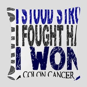 D Survivor 4 Colon Cancer Woven Throw Pillow