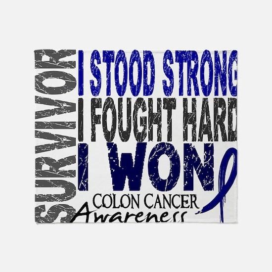 D Survivor 4 Colon Cancer Throw Blanket