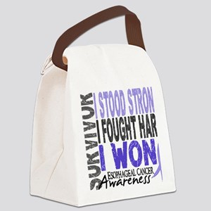 D Survivor 4 Esophageal Cancer Canvas Lunch Bag