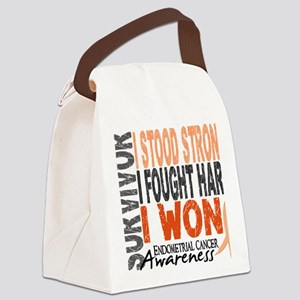 D Survivor 4 Endometrial Cancer Canvas Lunch Bag