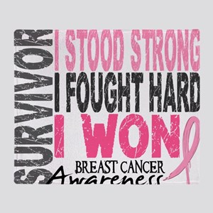 - Survivor 4 Breast Cancer Throw Blanket