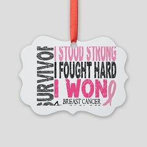 - Survivor 4 Breast Cancer Picture Ornament